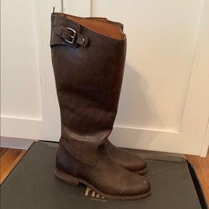 Frye Jayden Back ZIP Boots size 8, Slate